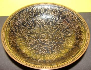Cuenco despojador de bronce indú